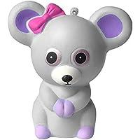 Dirance かわいい ネズミ スクイーズ おもちゃ かわいい モチ 香り プライム 低反発 ストレス解消 おもちゃ F グレイ DR
