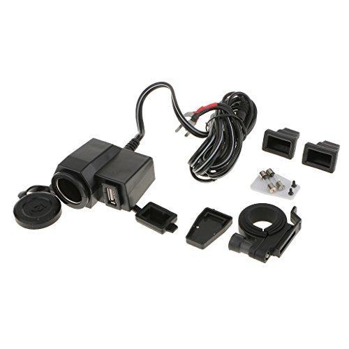 オートバイ用 DC 12V 防水 シガーライターソケットプラグ USB電源ポート iPhone充電