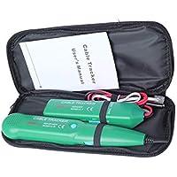 Tivollyff ネットワーク プロフェッショナル電話の電話線ネットワークケーブルテスターライン追跡者MASTECH MS6812についてキャリングバッグ付き 緑