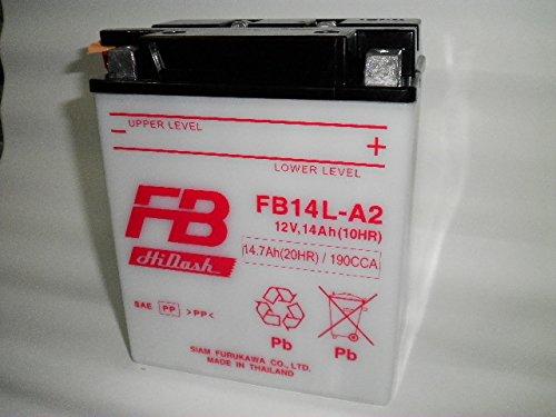 古河電池 フルカワバッテリー FB FB14L-A2 互換ユアサ YUASA YB14L-A2 SB14L-A2, SYB14L-A2, GM14Z-3A, M9-14Z CB750Four CB750F インテグラ カスタム FT400 FJ1100 XS650 スペシャル XJ750 GSX750F/S/S カタナ GT750 EX-4 GPZ900Rニンジャ ZX-10