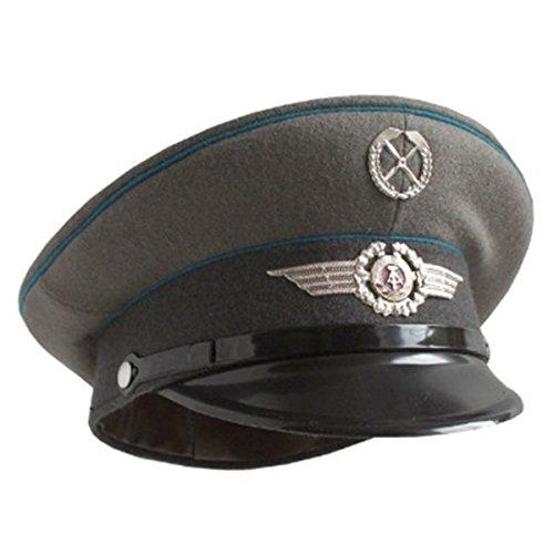 東ドイツ軍放出 AF 制帽 帽子 【57cm】 未使用 デットストック 【アウトドアシリーズ】
