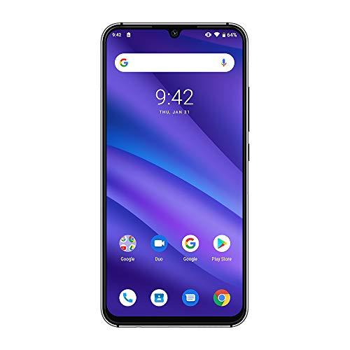 UMIDIGI A5 PRO SIMフリースマートフォン Android 9.0 6.3インチ FHD+水滴型ノッチ付きディスプレイ 16MP+8MP+5MPトリプルカメラ 4150mAh 4GB RAM + 32GB ROM Helio P23オクタコア DSDV対応 グローバルバージョン 顔認証 指紋認証 技適認証済み (ブラック)