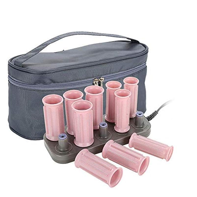 電気陽性コモランマ許可するローラーホットポッドヘアスタイリングツール、10ピースプロフェッショナル電気加熱ローラーカーリングロールdiyヘアスタイルヘアチューブ(クラシックスタイル)