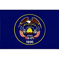 """Utah Flag Decal For Auto, Truck Or Boat - 3 ス"""" x 5"""" - High Gloss UV Coated Laminate Water Proof Sticker DECAL"""