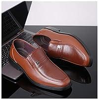 MTSL Leather Shoes Men's Leather Business Black Dress Men's Breathable Work Shoes Casual Middle-Aged Summer Men's Shoes