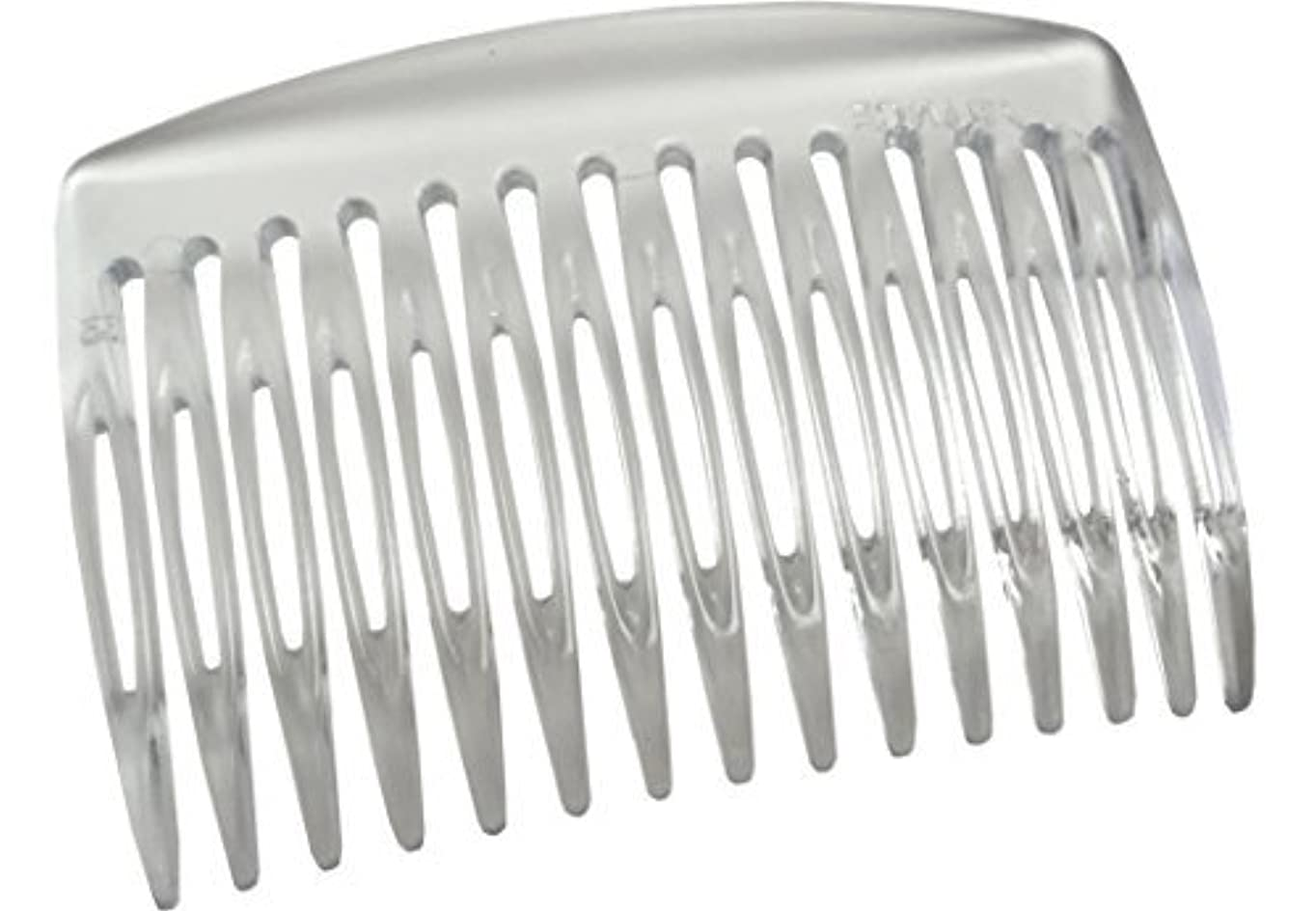 手数料噴火軽食Parcelona French Nice N Simple Clear 2 Pieces Cellulose Acetate Clear 7 Cm Side Hair Comb Combs [並行輸入品]