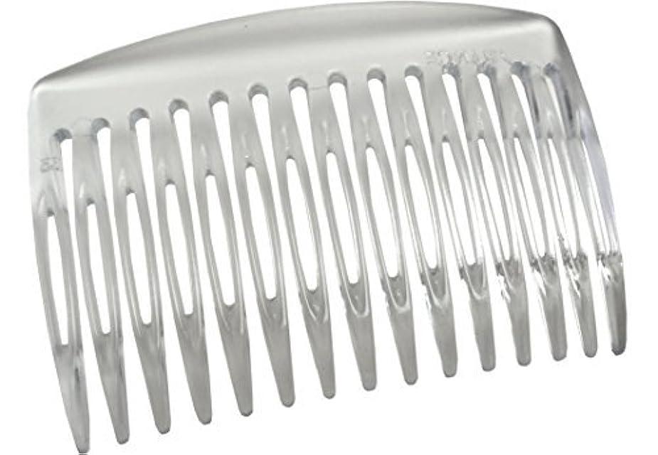 不機嫌場合労働Parcelona French Nice N Simple Clear 2 Pieces Cellulose Acetate Clear 7 Cm Side Hair Comb Combs [並行輸入品]