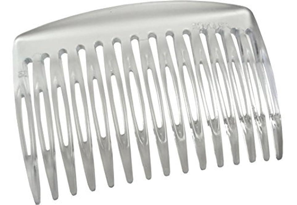 戦術適合確執Parcelona French Nice N Simple Clear 2 Pieces Cellulose Acetate Clear 7 Cm Side Hair Comb Combs [並行輸入品]
