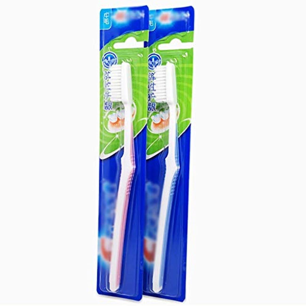 振り返る特殊弾丸クリーン歯ブラシ、ノンスリップハンドル歯ブラシ、12パック(ランダムカラー)