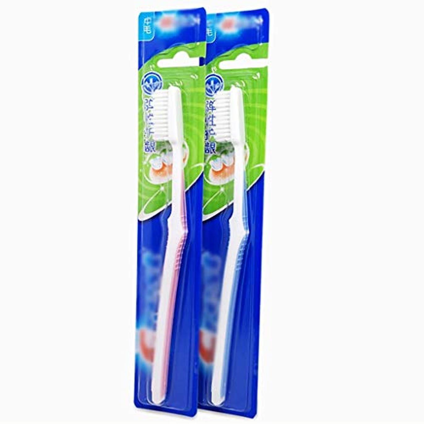 急降下の中で奴隷クリーン歯ブラシ、ノンスリップハンドル歯ブラシ、12パック(ランダムカラー)