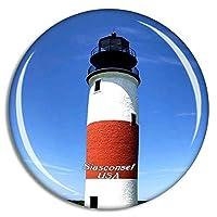 Weekino アメリカアメリカSiasconset Sankaty Head Lighthouse冷蔵庫マグネット3Dクリスタルガラス観光都市旅行お土産コレクションギフト強い冷蔵庫ステッカー