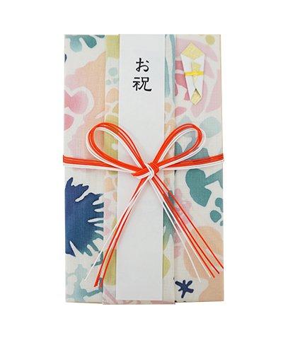にじゆら 注染はんかち祝儀袋 bouquet ピンク (花結び)