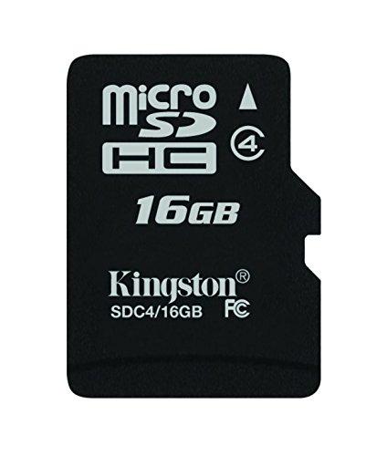 キングストン microSDHC カード 16GB クラス 4 カードのみ SDC4/16GBSP 永久保証