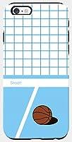 4色のオシャレ愛らしくかわいいパステルカラーのヴィンテージツートンチェックパターンレタリングバスケットボールボールサッカーボールラブリーアートデザインパターンiPhone&GalaxyポリカーボネートとシリコンTPUの二重バンパースマホケース.CH-1-162-0UG (iPhone 7, 2.BLUEバスケットボールボール) [並行輸入品]