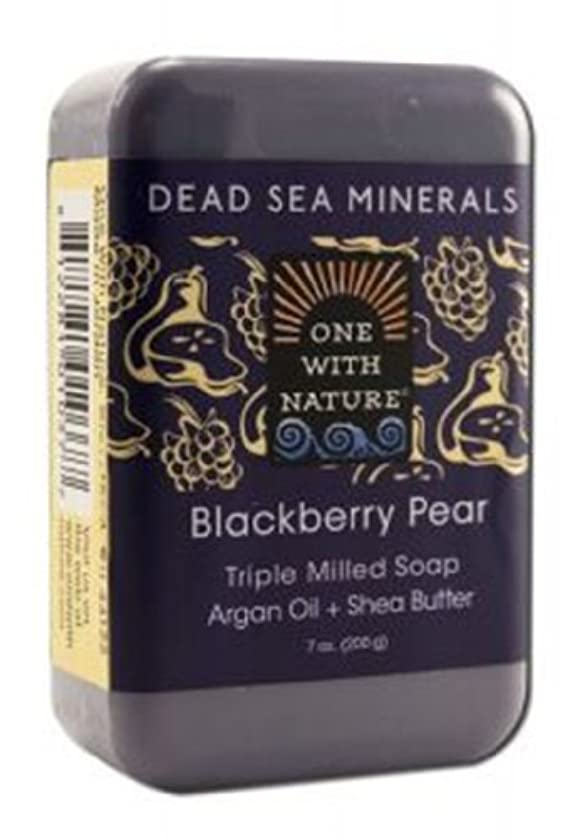 不名誉なスクリーチ武器海外直送品Dead Sea Mineral Bar Soap, Blackberry Pear 7 OZ by One with Nature
