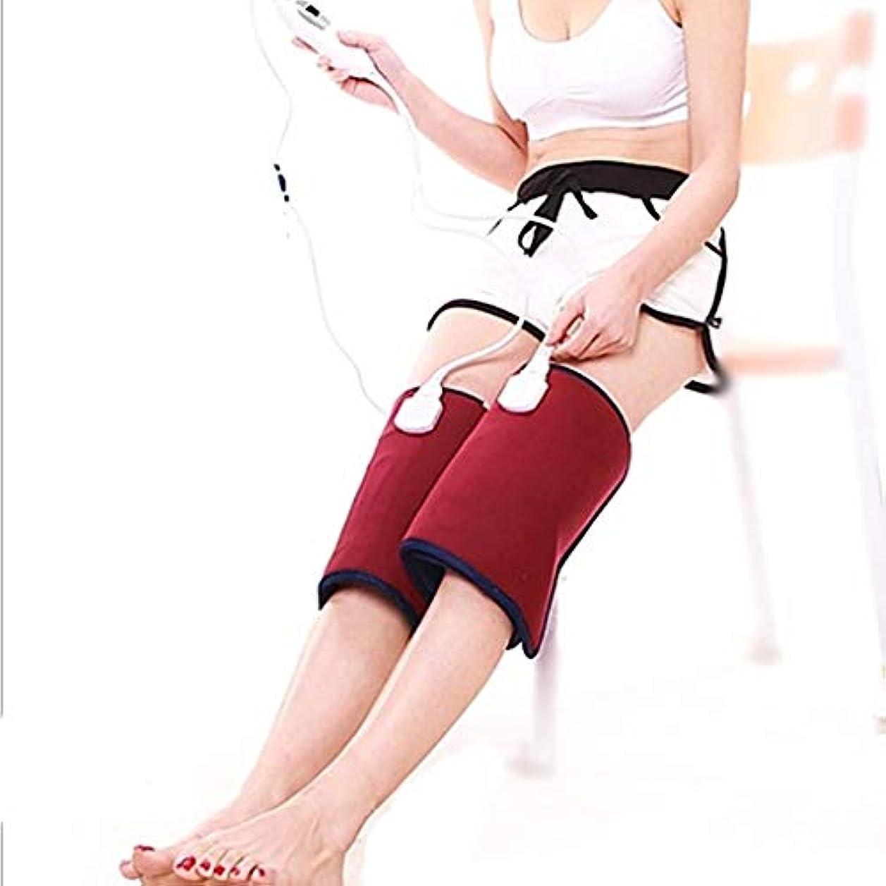 チャネル変色するタールレッグマッサージャー、6つの温度調整速度、自動電源オフおよび加熱機能を備えた加熱式膝治療装置、在宅勤務で使用可能