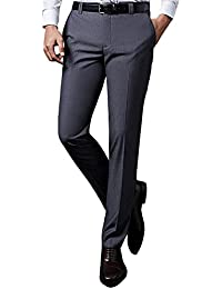 DADIJIER スラックス メンズ ビジネス 通勤 スリムパンツ ウォッシャブル ロングパンツ ノータック ストレート 高品質 美脚 薄手 ブラック 32