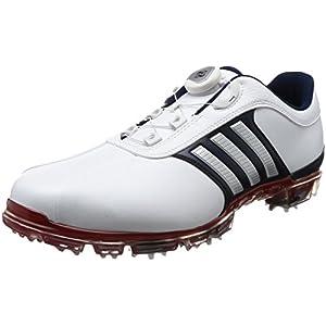 [アディダスゴルフ] ゴルフシューズ ピュアメタル ボア プラス pure metal Boa PLUS ホワイト/シルバーメタリック/パワーレッド 26.5 cm 3E