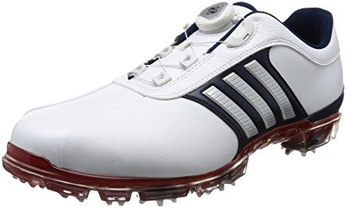 [アディダスゴルフ] ゴルフシューズ ピュアメタル ボア プラス メンズ ホワイト/シルバーメタリック/パワーレッド 25.5 cm 3E