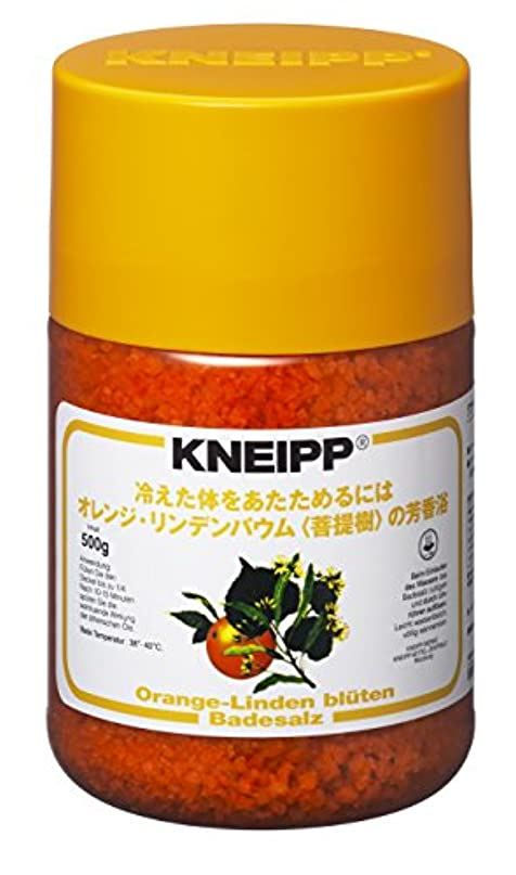 いらいらさせる透けて見える安価なクナイプ バスソルト オレンジ?リンデンバウム<菩提樹>の香り 500g