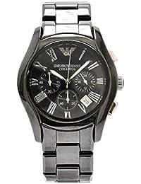 4c97c90467 [エンポリオ アルマーニ] EMPORIO ARMANI セラミカ クロノグラフ デイト ブラック セラミック クォーツ メンズ 腕時計 AR1400