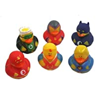 Fun Express Super Hero Rubber Duck Duckies Party Favors - 12 Pieces (Discontinued by manufacturer) [並行輸入品]