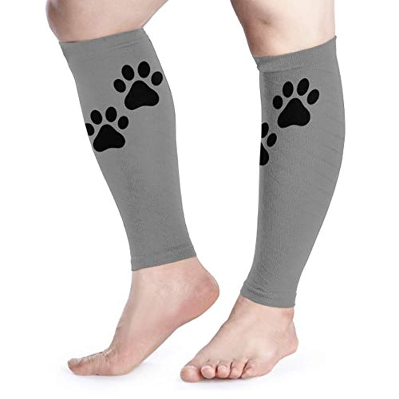 SUNJAN ふくらはぎサポーター猫の足 薄手 通気 吸汗速乾 着圧 むくみ防止 高弾力 UV対策 スポーツ用 男女兼用