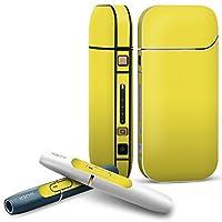 IQOS 2.4 plus 専用スキンシール COMPLETE アイコス 全面セット サイド ボタン デコ その他 シンプル 無地 黄色 008993