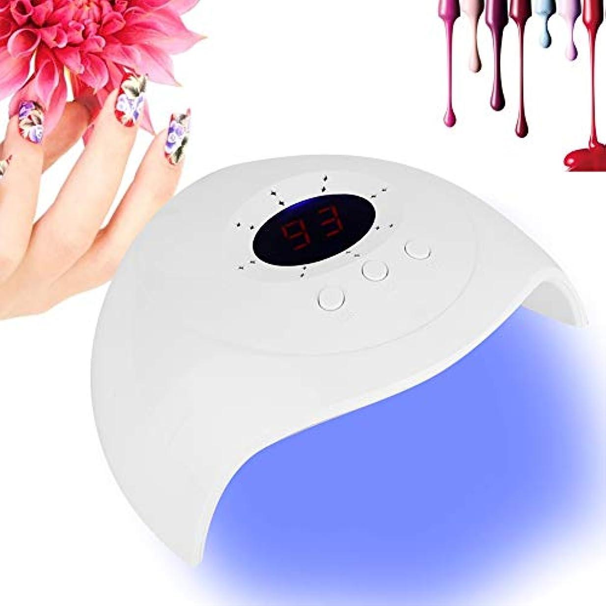 36W ネイルポリッシュ ドライヤー ランプデュアル 光源 LED UV ジェルネイルポリッシュ ドライヤー 硬化ランプ