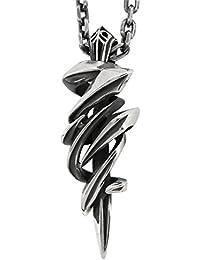 [エムズコレクション] M's collection スモールシャープラインエッジ シルバー ネックレス FRT-X0243