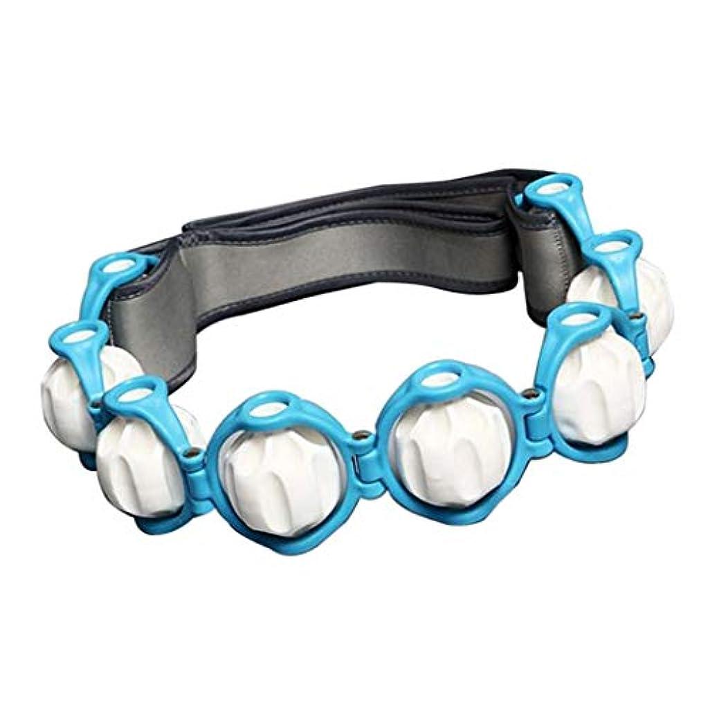 ダイバー動力学ロッジマッサージ ローラー ロープ付き 六つボール 4色選べ - 青, 説明したように