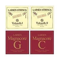 Larsen Magnacore Soloist 4/4 Cello String Set - Medium [並行輸入品]