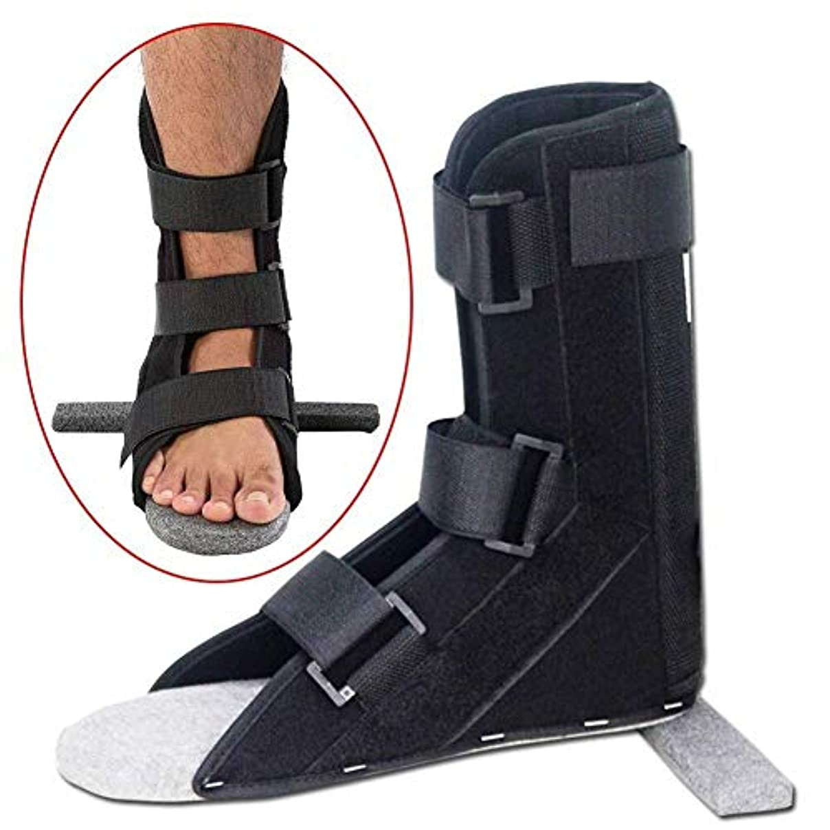 無限中毒呼び出すフットドロップサポートシューズ、正しい足外反、痛みと回復の捻Sp足首装具、脳卒中リハビリテーション装具、男女兼用 (色 : L)