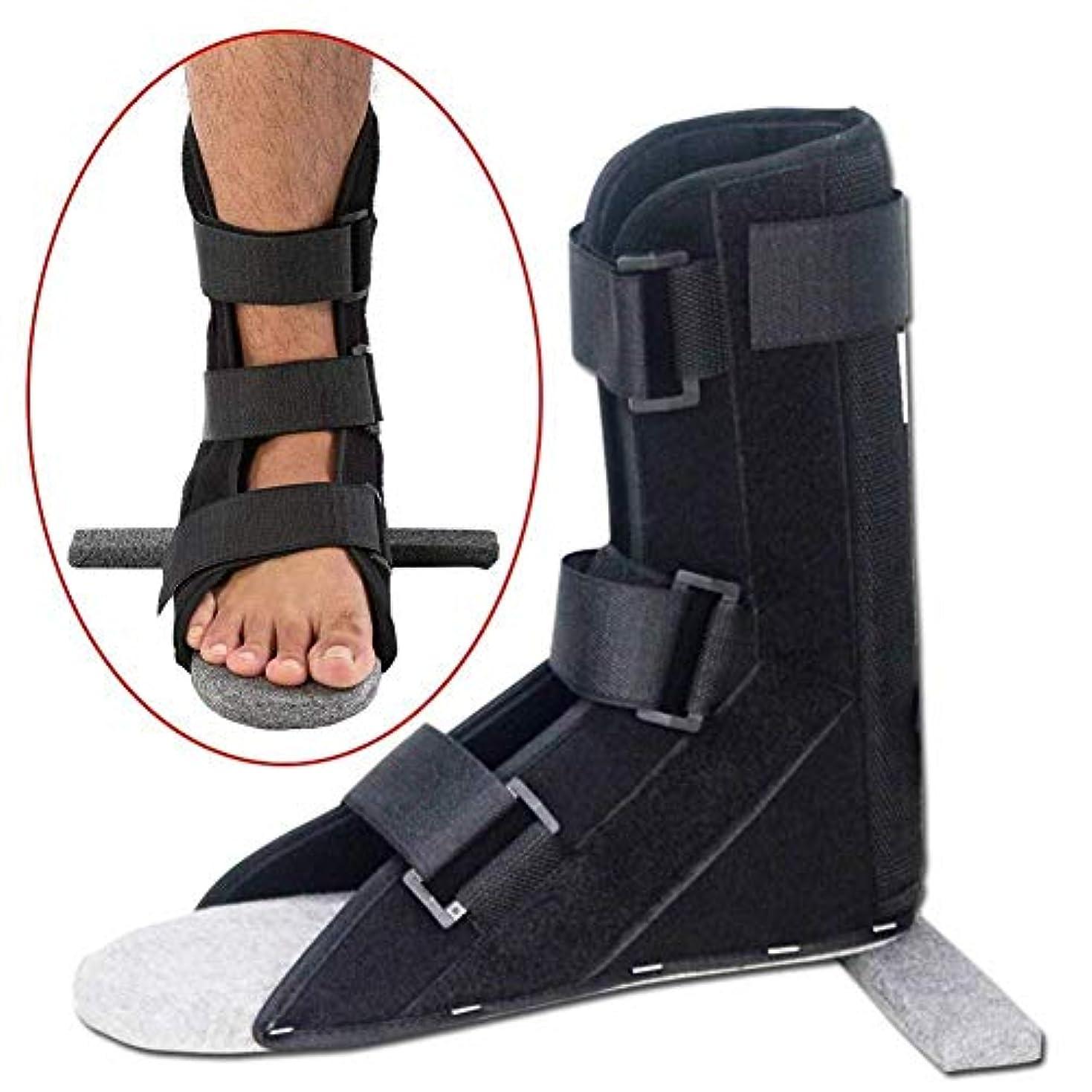 隣接する構想する冗談でフットドロップサポートシューズ、正しい足外反、痛みと回復の捻Sp足首装具、脳卒中リハビリテーション装具、男女兼用 (色 : L)