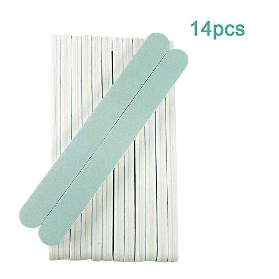 宴会刈る精神ジェルネイルファイルセット プロネイルバッファー 爪やすり 爪磨きスポンジ ネイルシャイナーバッファー600/3000 グリット14本セット