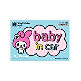 ゼネラルステッカー サンリオ マイメロディ BABY in car ステッカー LCS-063