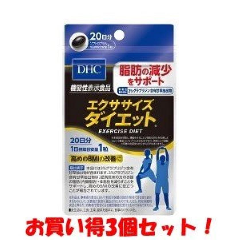 若者校長歯科医DHC 20日エクササイズダイエット 9.6g(機能性表示食品)/新商品/(お買い得3個セット)