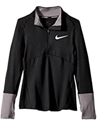 (ナイキ) NIKE キッズTシャツ Dry Element 1/2 Zip Running Top (Little Kids/Big Kids) Black/Gunsmoke/Black SM (8 Big Kids)...