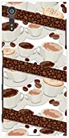 液晶保護フィルム 付 エクスペリアエックスゼットエス [so-03j sov35 602so] xperia xzs TPU ソフトケース コーヒーとコーヒー豆 docomo au softbank スマホケース ドコモ エーユー ソフトバンク スマホカバー デザインケース