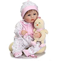 BinglinghuaハンドメイドReal Looking新生児ベビービニールシリコンRealistic Reborn人形ガール