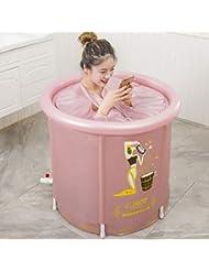 ピンクのPVC防水生地プラスチック浴槽には空気枕が付いて、70 Cmの排水ホース、折り畳み可能な浴槽の底部の健康磁石、SPA物理療法、児童、成人に適している
