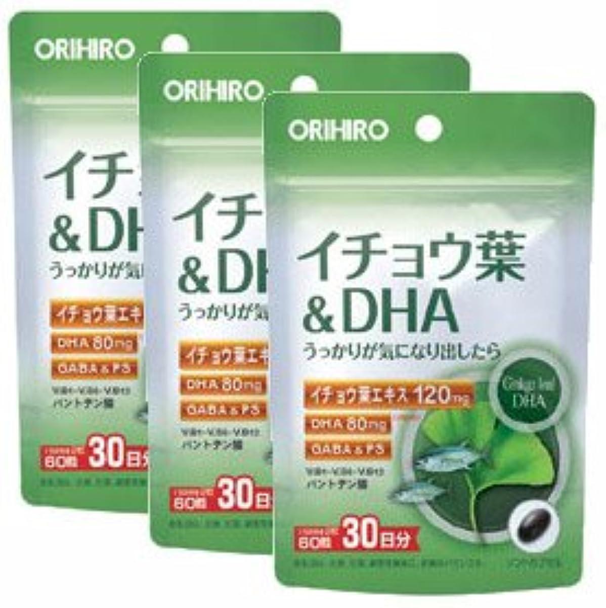 動揺させる北振る舞いイチョウ葉&DHA PD【3袋セット】オリヒロ