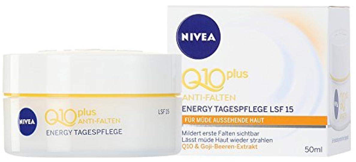繁栄する液体静かなNIVEA Vitalisierende Tagespflege, 50 ml Tiegel, Q10 plus Energy