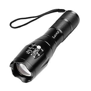 Letmy LED懐中電灯 ハンディライト 超高輝度 ズーム式 5モード切替 1000ルーメン アウトドア 強力 防水 防災 軍用