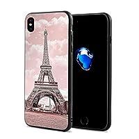 Apple Iphone X 携帯ケース 同人まんが カップル用 電話 カバー 5.8インチ 3D印刷 黒い 人気 つうよう 新しい はらじゅく 贈り物 男女兼用 - ピンクエッフェル塔