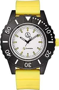 [キューアンドキュー スマイルソーラー]Q&Q SmileSolar 腕時計 ソーラー アナログ 20気圧防水 直径45mm イエロー RP30-006 メンズ