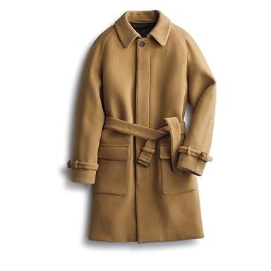 Belted Balmacaan Coat: Beige