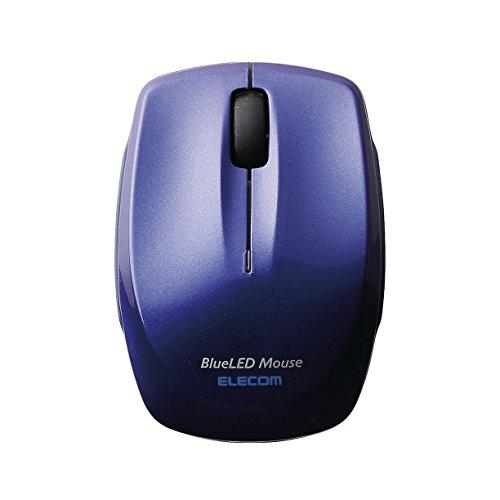 エレコム ワイヤレスマウス Bluetooth 静音 クリック音95%軽減 3ボタン コンパクト ブルー M-FBL3BBSBU