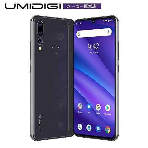 simフリー スマホ Android 9.0 トリプルカメラ スマホ UMIDIGI A5 PRO 6.3インチ FHD+水滴型ノッチ付きディスプレイ 16MP+8MP+5MP 4150mAh 4GB RAM + 32GB ROM Helio P23オクタコア DSDV対応 グローバルバージョン 顔認証 指紋認証 技適認証済み AUキャリア不可 一年メンテナンス保証(ブラック)