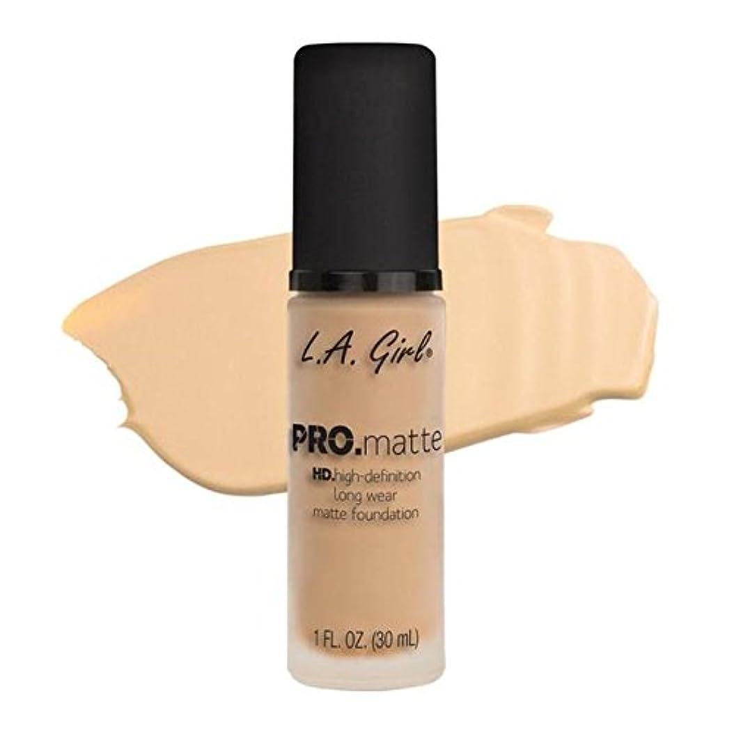 架空の軸リマLA Girl PRO.mattte HD.high-definition long wear matte foundation (GLM671 Ivory)